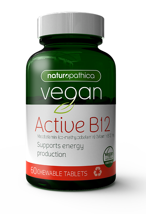 Naturopathica Vegan Active B12 60 Tablets