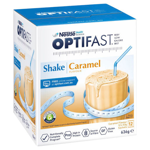Optifast VLCD Shake Caramel - 12 Pack 53g Sachets