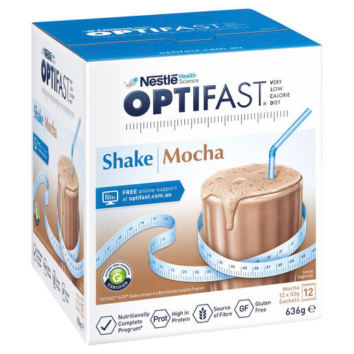 Optifast VLCD Shake Mocha - 12 Pack 53g Sachets