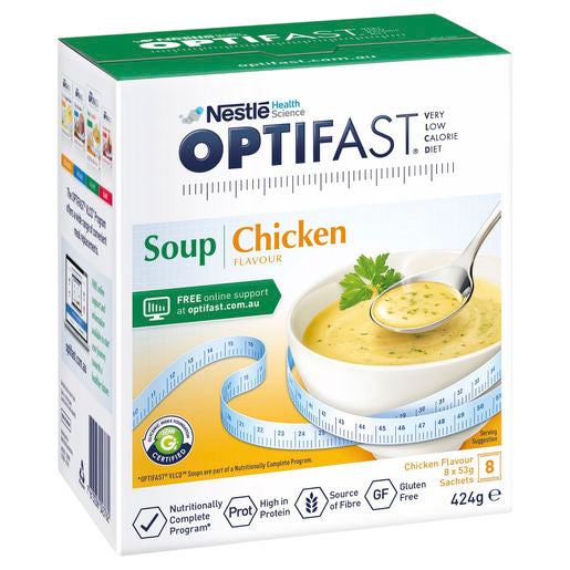 Optifast VLCD Soup Chicken Flavour - 8 Pack 53g Sachets