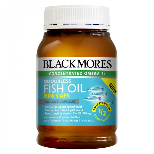 Blackmores Odourless Fish Oil 400 Mini Caps