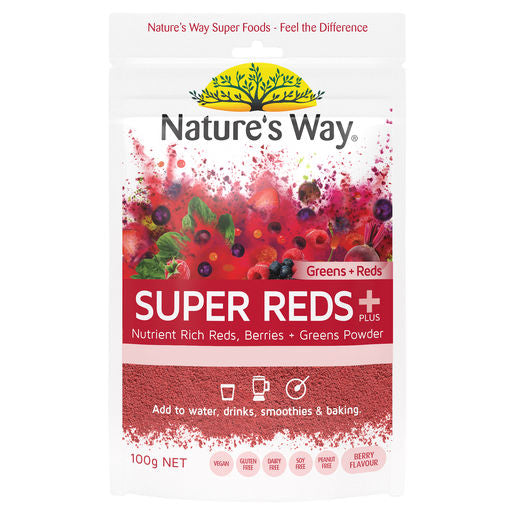 Natures Way Super Greens + Reds 100G