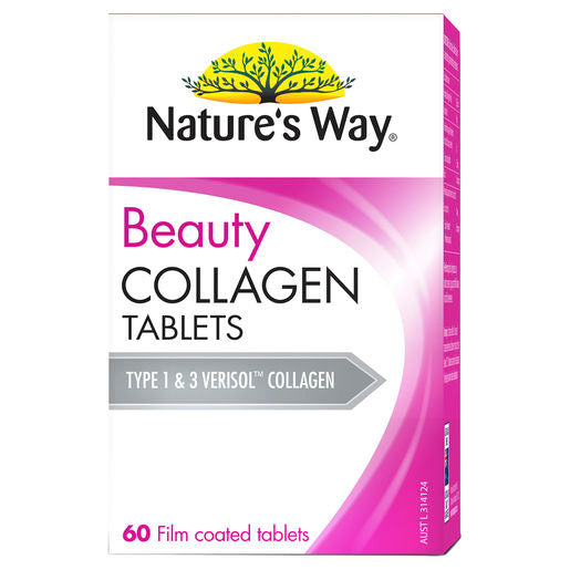 Natures Way Beauty Collagen 60 Tabs