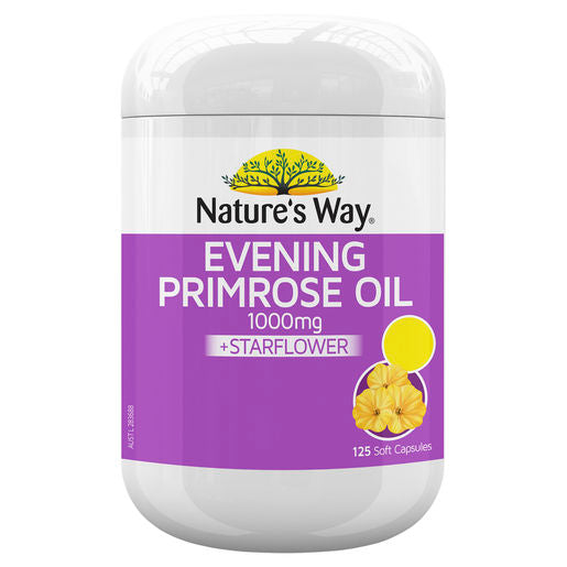 Natures Way Evening Primrose Oil  Star Flower 125Tabs
