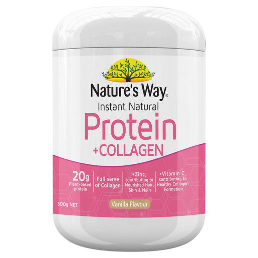 Natures Way Instant Protein + Collagen 300G