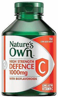 Natures Own High Strength Defence C 150 Tabs
