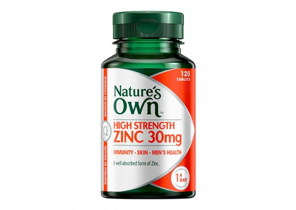 Natures Own High Strength Zinc 30mg 120 Tabs