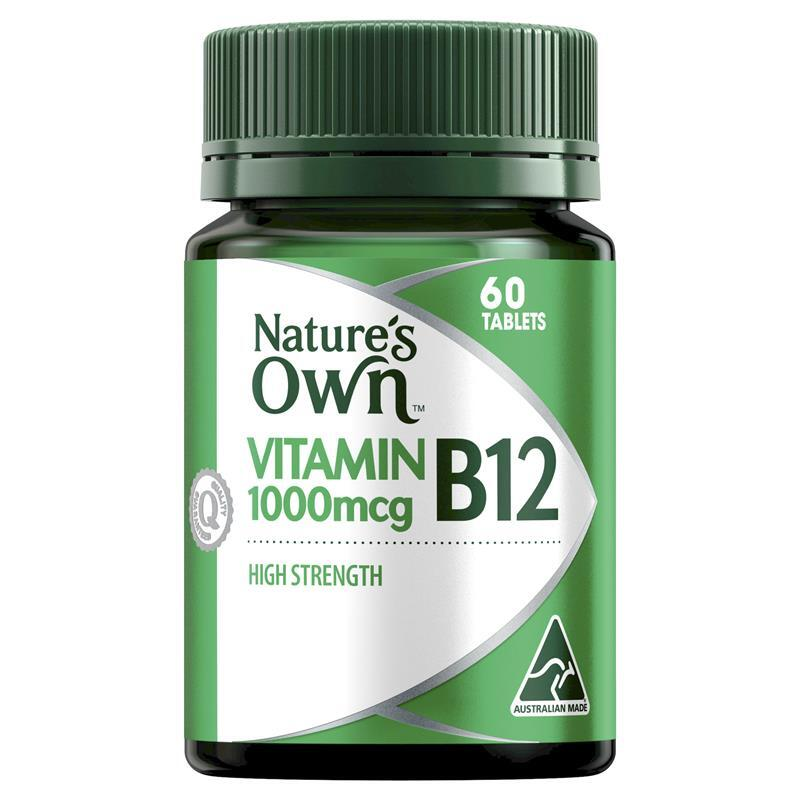 Natures Own Vitamin B12 Tablets 60 Tabs