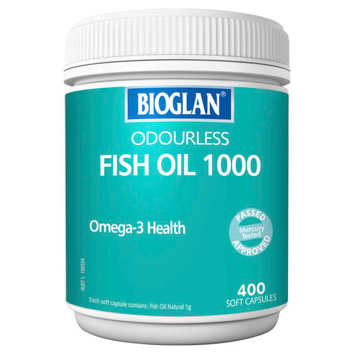 Bioglan Odourless Fish Oil 1000Mg 400 Caps