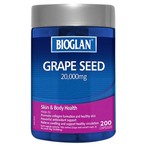 Bioglan Grape Seed 20,000mg 200s
