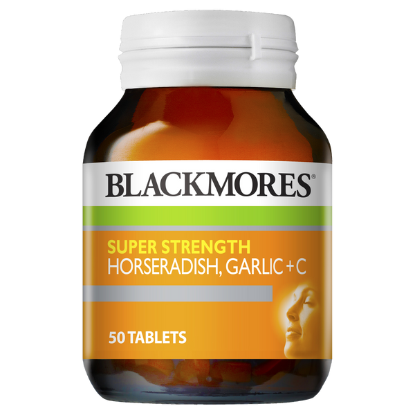 Blackmores Super Strength Horseradish Garlic + C 50 Tabs