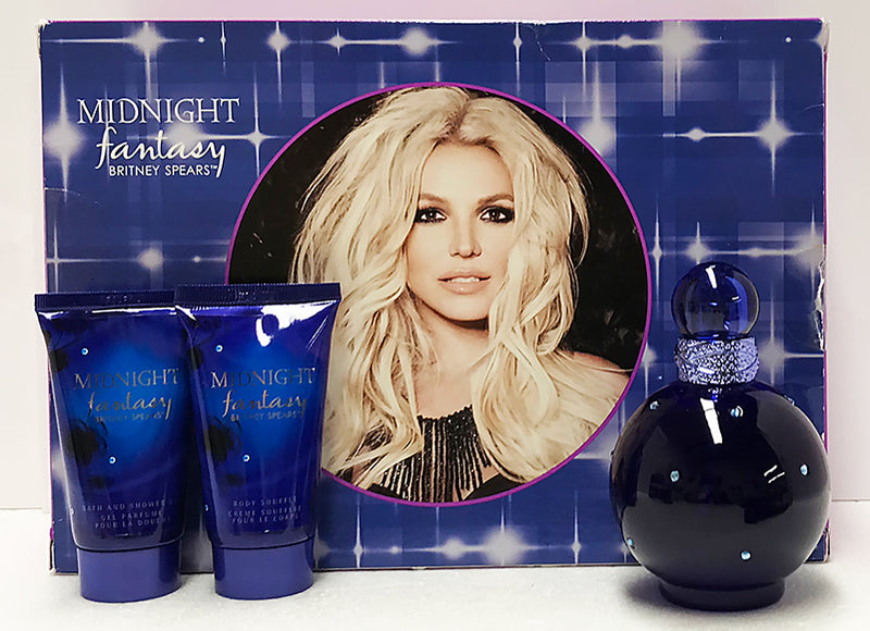 Britney Spears Midnight Fantasy 100ml EDP 3 Piece Gift Set