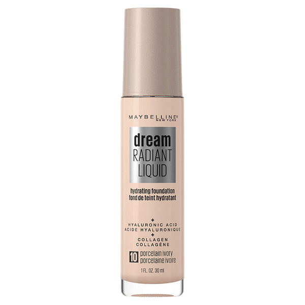 Maybelline Dream Radiant Liquid Hydrating Foundation with Hyaluronic Acid - Porcelain Ivory 10