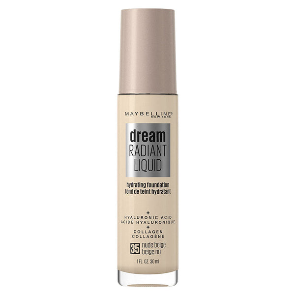 Maybelline Dream Radiant Liquid Hydrating Foundation with Hyaluronic Acid - Nude Beige 35