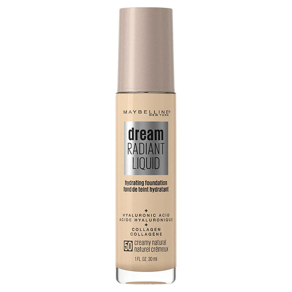 Maybelline Dream Radiant Liquid Hydrating Foundation with Hyaluronic Acid - Creamy Natural 50