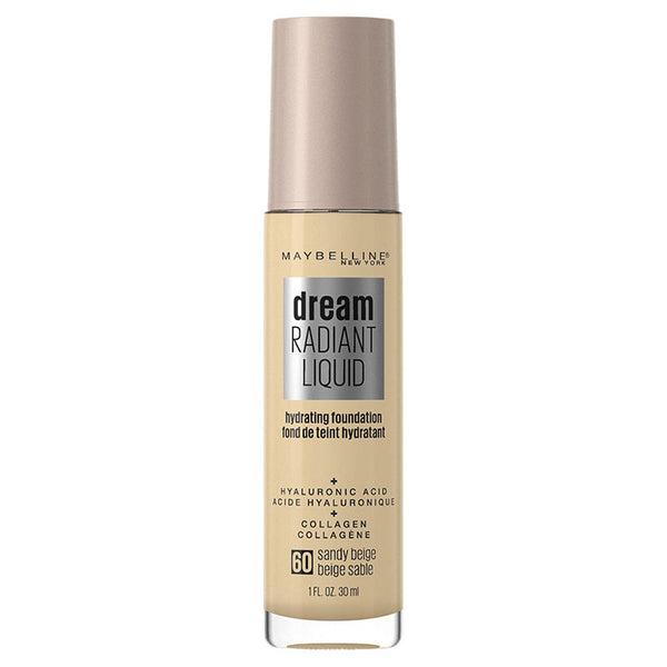 Maybelline Dream Radiant Liquid Hydrating Foundation with Hyaluronic Acid - Sand Beige 60