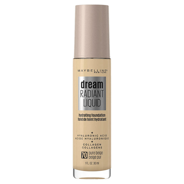 Maybelline Dream Radiant Liquid Hydrating Foundation with Hyaluronic Acid - Pure Beige 70