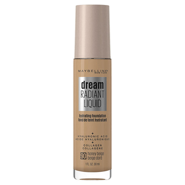 Maybelline Dream Radiant Liquid Hydrating Foundation with Hyaluronic Acid - Honey Beige 90