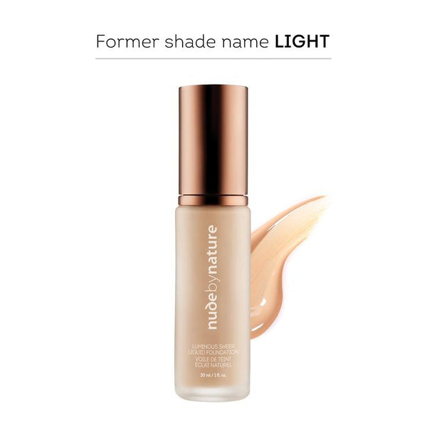 Nude By Nature Luminous Sheer Liquid Foundation Shell Beige 30ml