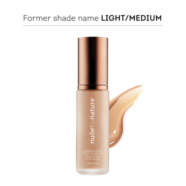 Nude By Nature Luminous Sheer Liquid Foundation Rose Beige 30ml