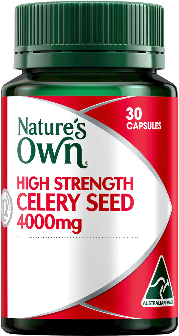 Natures Own Celery Seed 4000mg 30 Caps