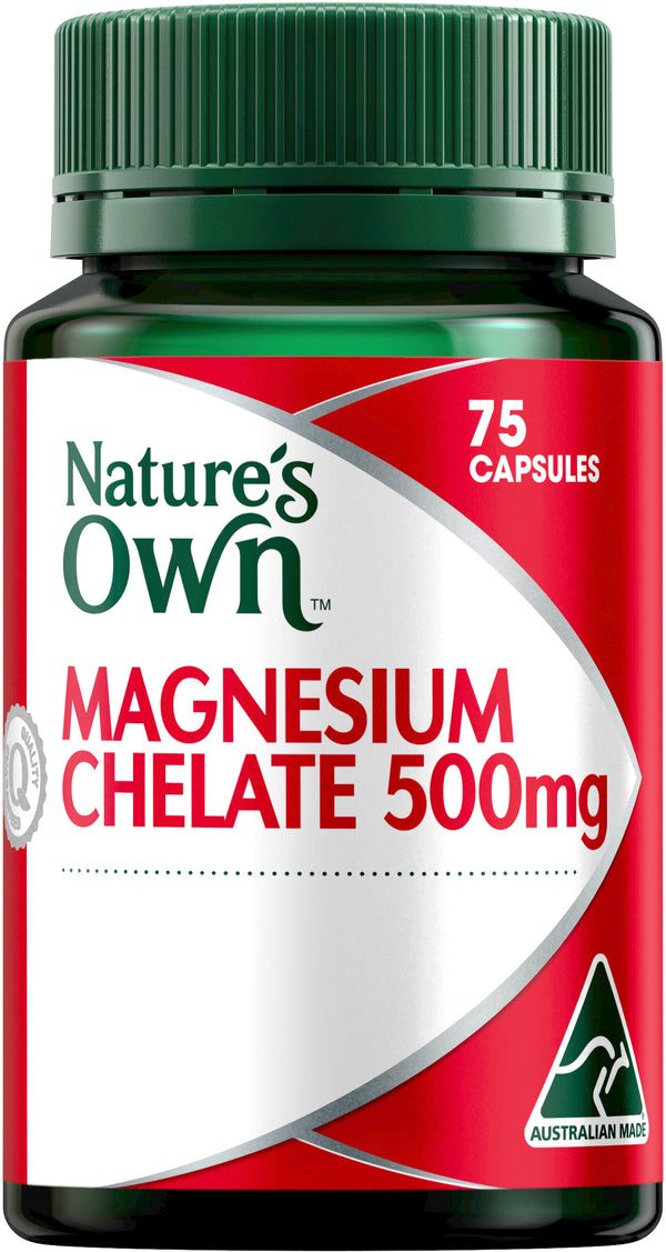 Natures Own Magnesium Chelate 500mg 75 Caps