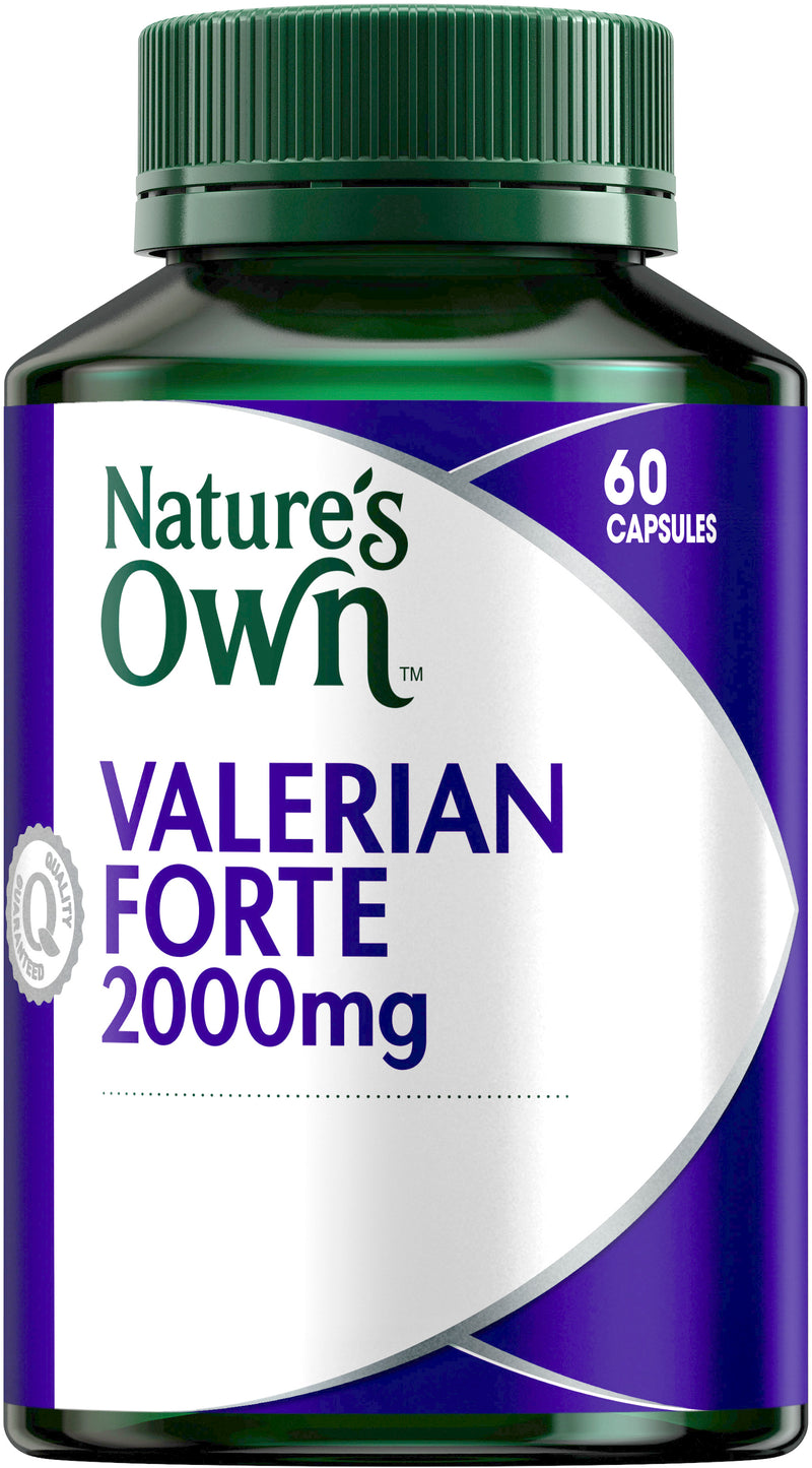 Natures Own Valerian Forte 2000mg 60 Caps