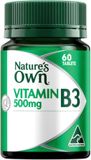Natures Own Vitamin B3 500mg 60Tabs