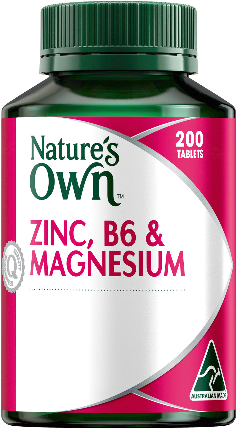 Natures Own Zinc, B6 & Magnesium 200 Tabs
