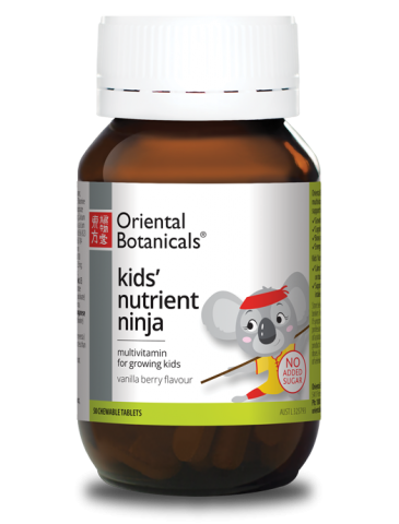 Kids' Nutrient Ninja is a great tasting multivitamin for growing kids.