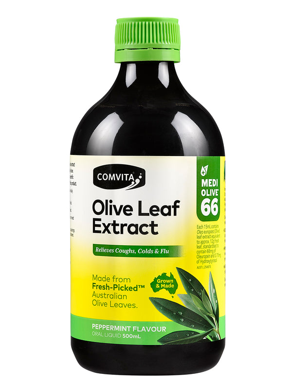 Comvita Fresh-Picked Olive Leaf Extract Peppermint Flavour 500ml