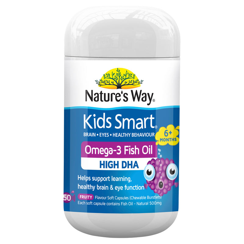 Natures Way Kids Smart Fruity 50 Caps