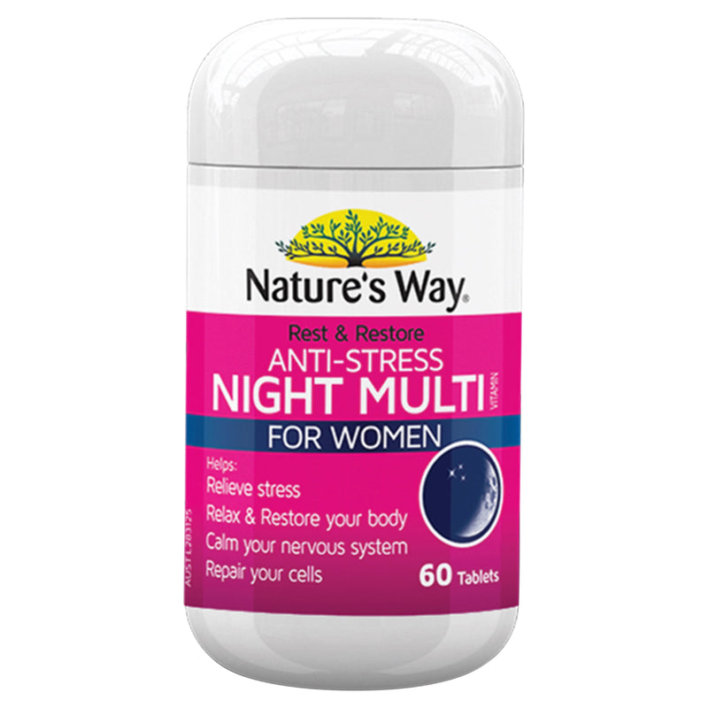 Natures Way Rest & Restore Night Womens 60 Tabs