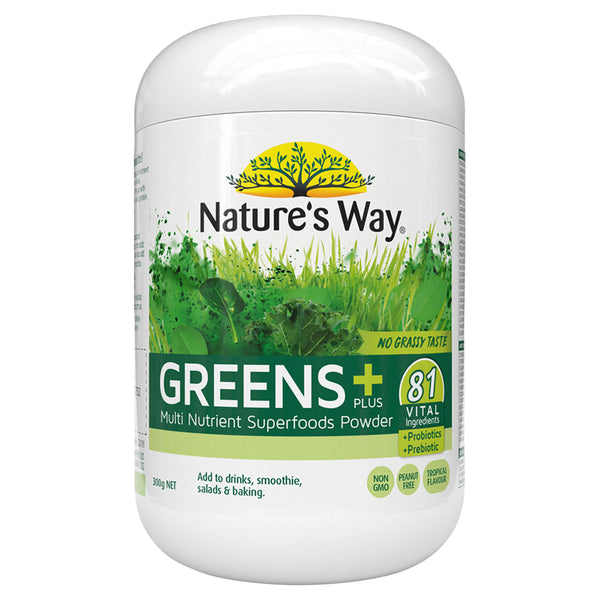 Natures Way Super Greens Plus 300G
