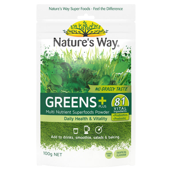 Natures Way Super Greens Plus 100G