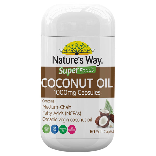 Natures Way Superfoods Coconut Oil 1000Mg 60 Caps