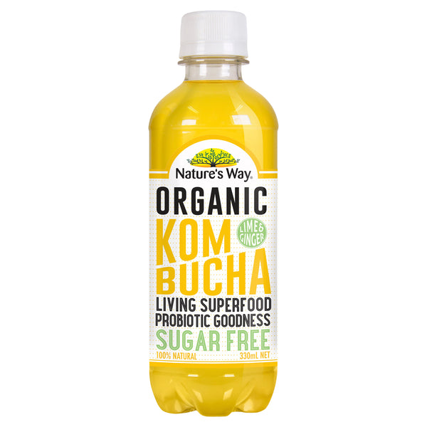 Natures Way Superfoods Kombucha Lime & Ginger