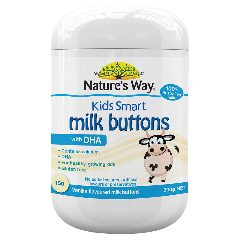 Natures Way Kids Smart Milk Buttons Dha Vanilla