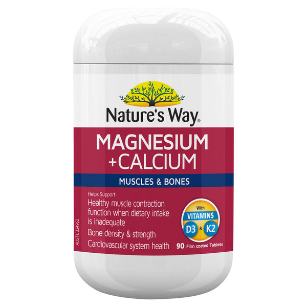 Natures Way Magnesium + Calcium 90S