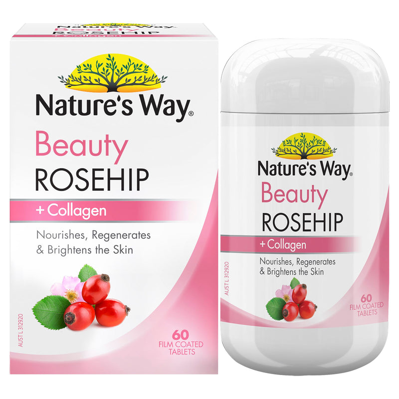 Natures Way Beauty Rosehip + Collagen 60S