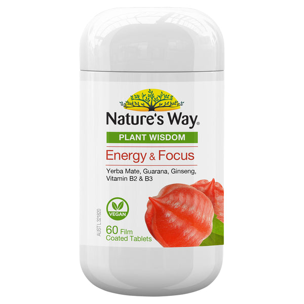 Natures Way Plant Wisdom Energy 60S