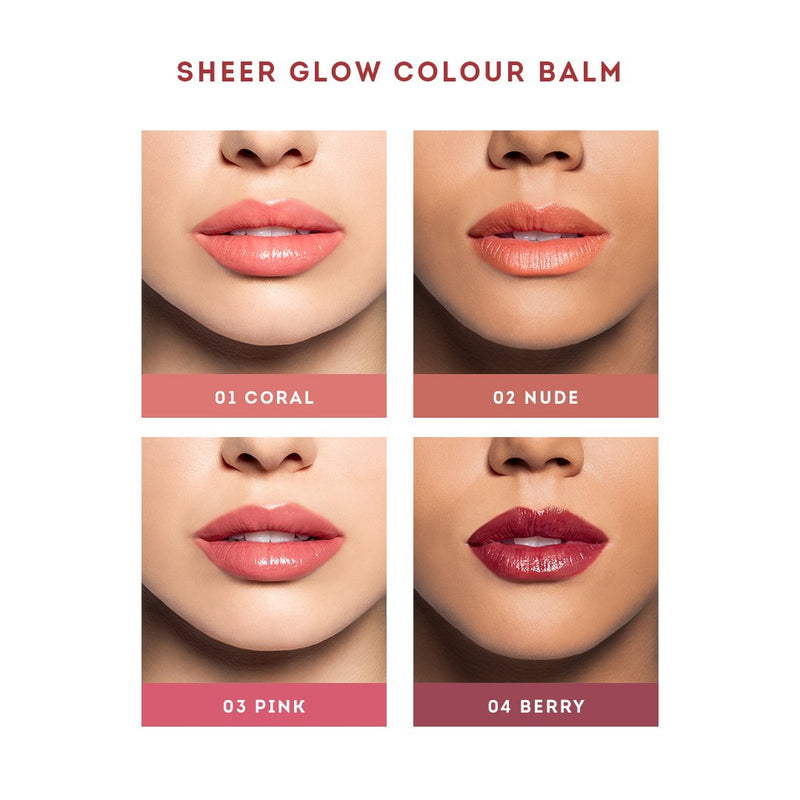 Nude By Nature Sheer Glow Colour Balm Pink