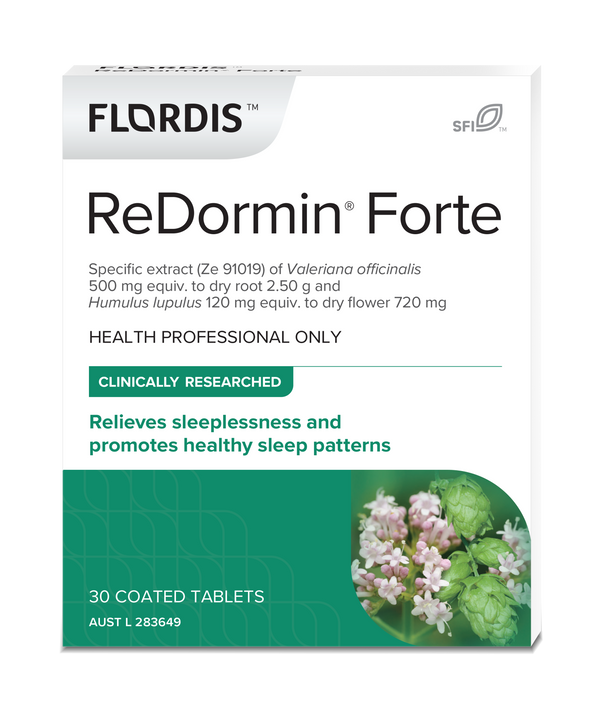 promotes healthy sleep Flordis ReDormin Forte 30 Tablets