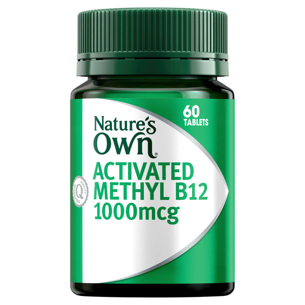 Natures Own Activated Methyl B12 60Tabs
