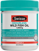 Swisse Ultiboost Odourless Fish Oil 1000Mg 200 Caps