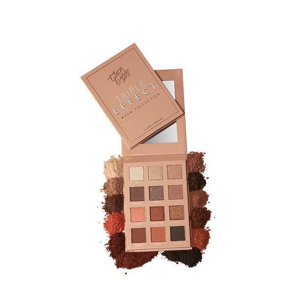Thin Lizzy Triple Effect Eyeshadow Palette - Warm Collection