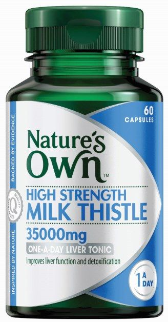 Natures Own High Strength Milk Thistle 60 Caps