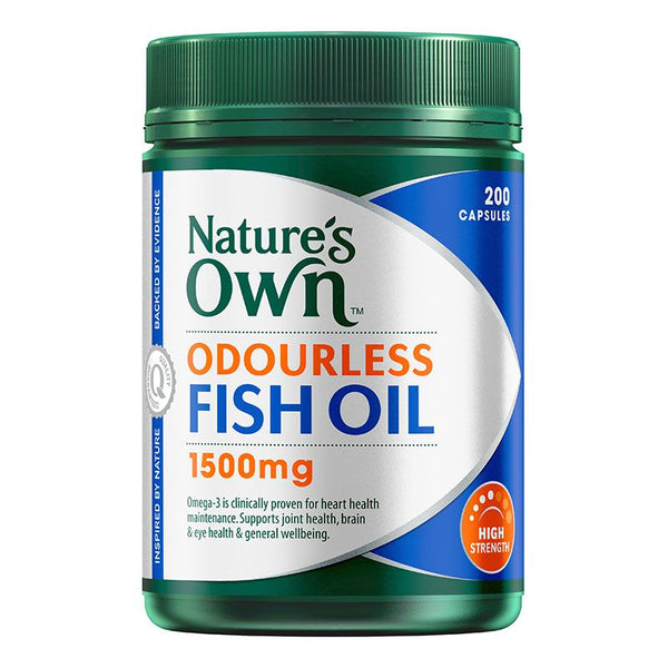 Natures Own Odourless Fish Oil 1500mg 200 Caps