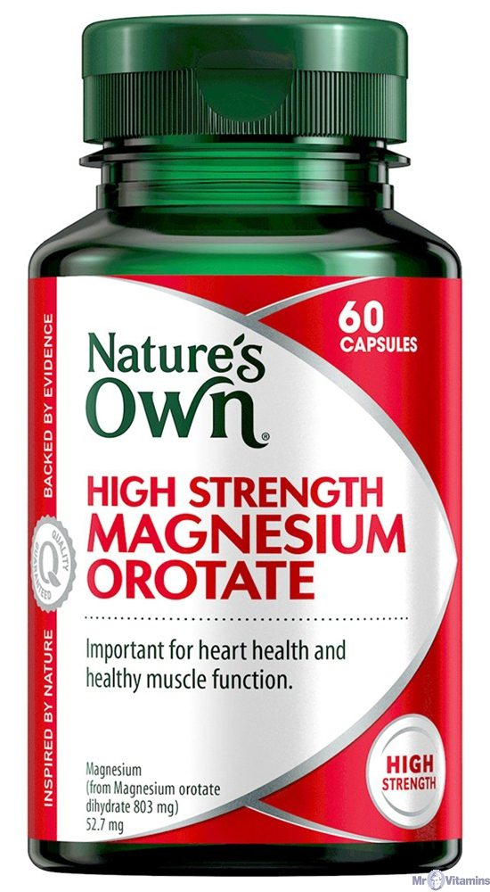 Natures Own High Strength Magnesium Orotate 800Mg 60 Tabs