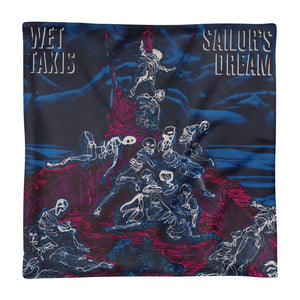 "Wet Taxis ""Sailor's Dream"" Cushion 18"" Cover. Home Decor"
